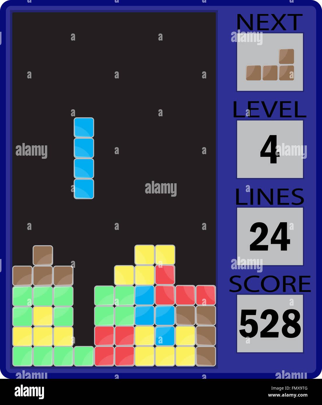 Tetris Interfaz De Dispositivo Interfaz De Dispositivo De Juegos