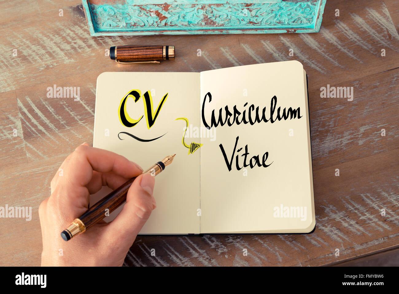 Curriculum Vitae Imágenes De Stock & Curriculum Vitae Fotos De Stock ...