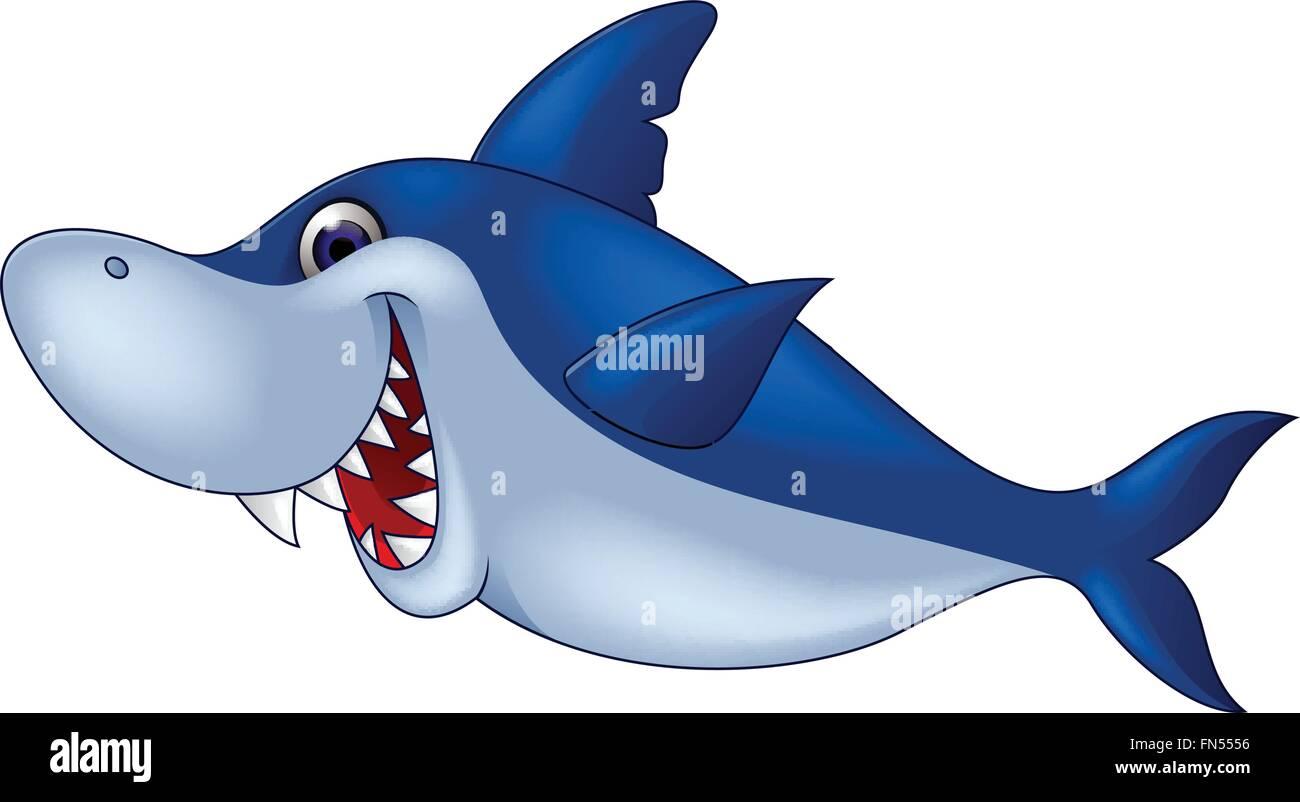 Dibujos Animados De Tiburones Ilustración Del Vector