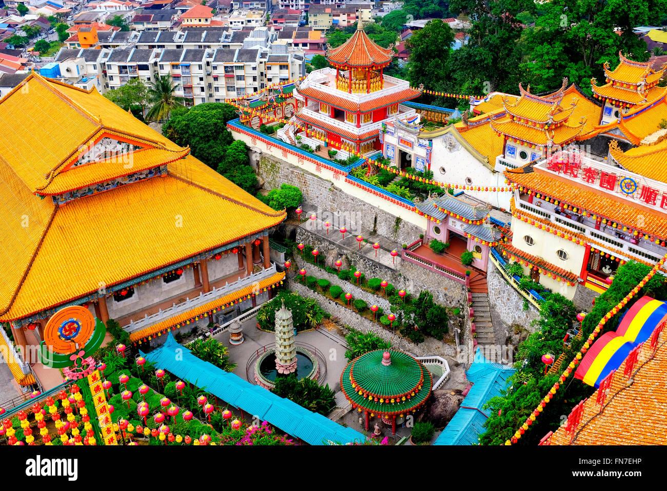 Vista de Kek Lok Si, Air Itam, Penang, Malasia Imagen De Stock