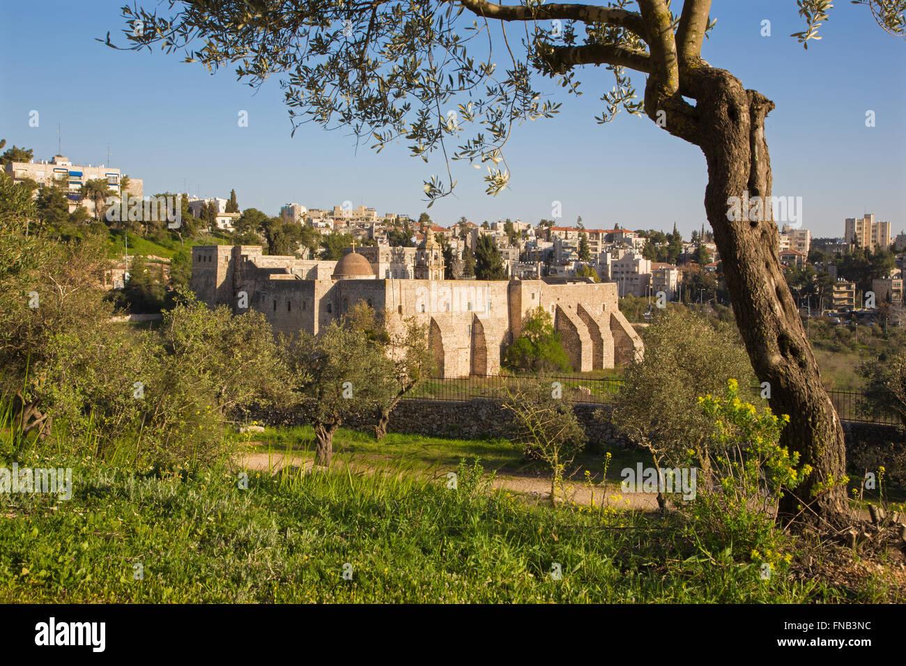 Israel - Jerusalén - el Monasterio de la cruz desde el siglo 11. Imagen De Stock