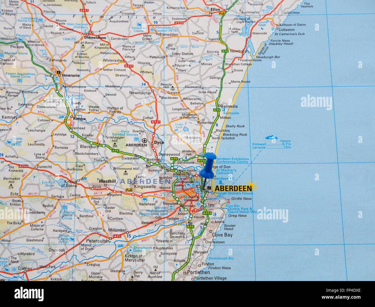 Map North East Coast Britain Fotos E Imagenes De Stock Alamy