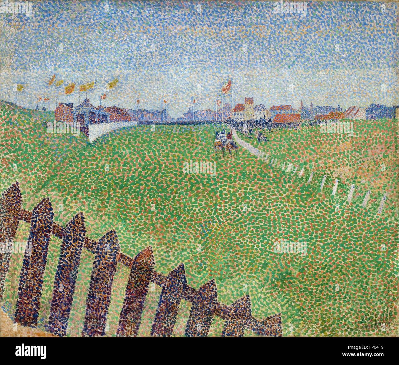 Alfred William Finch - El Hipódromo de Wellington en la llovizna (Ostende) Imagen De Stock