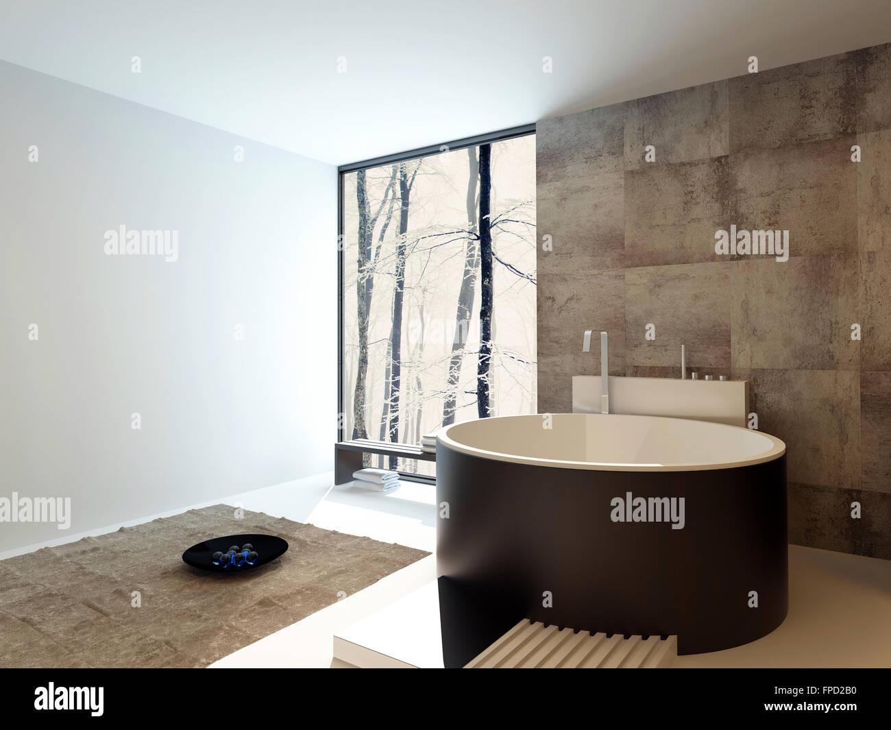 Cuarto de ba o de lujo de dise o interior contempor neo Diseno de una habitacion con bano
