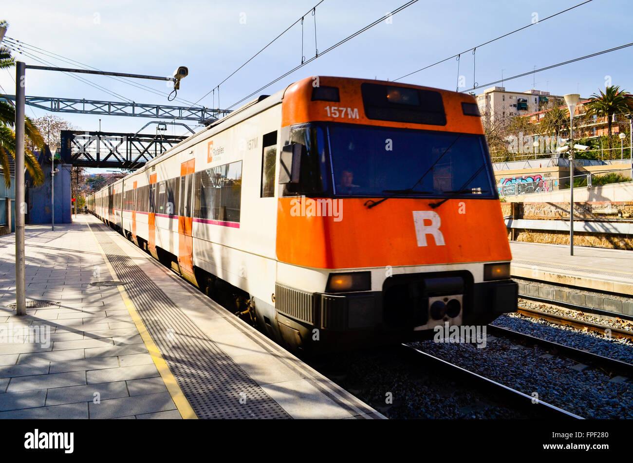 La Estación De Tren Hospitalet Del Llobregat Provincia De Barcelona Cataluña España Fotografía De Stock Alamy