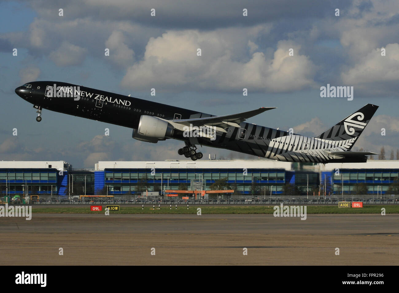AIR New Zealand All Blacks 777 300 Imagen De Stock