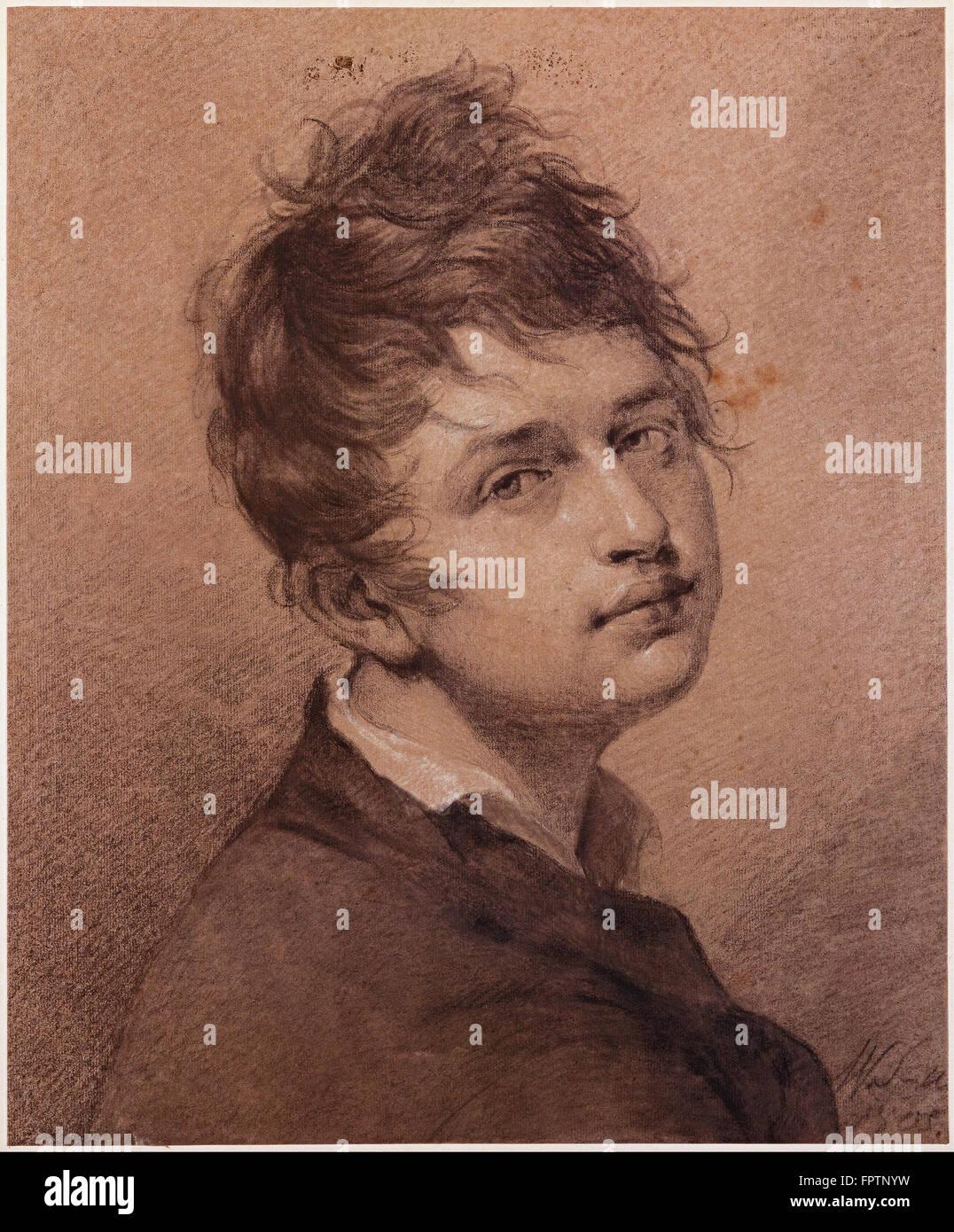 Friedrich Wilhelm Schadow - Autorretrato - 1805 Foto de stock