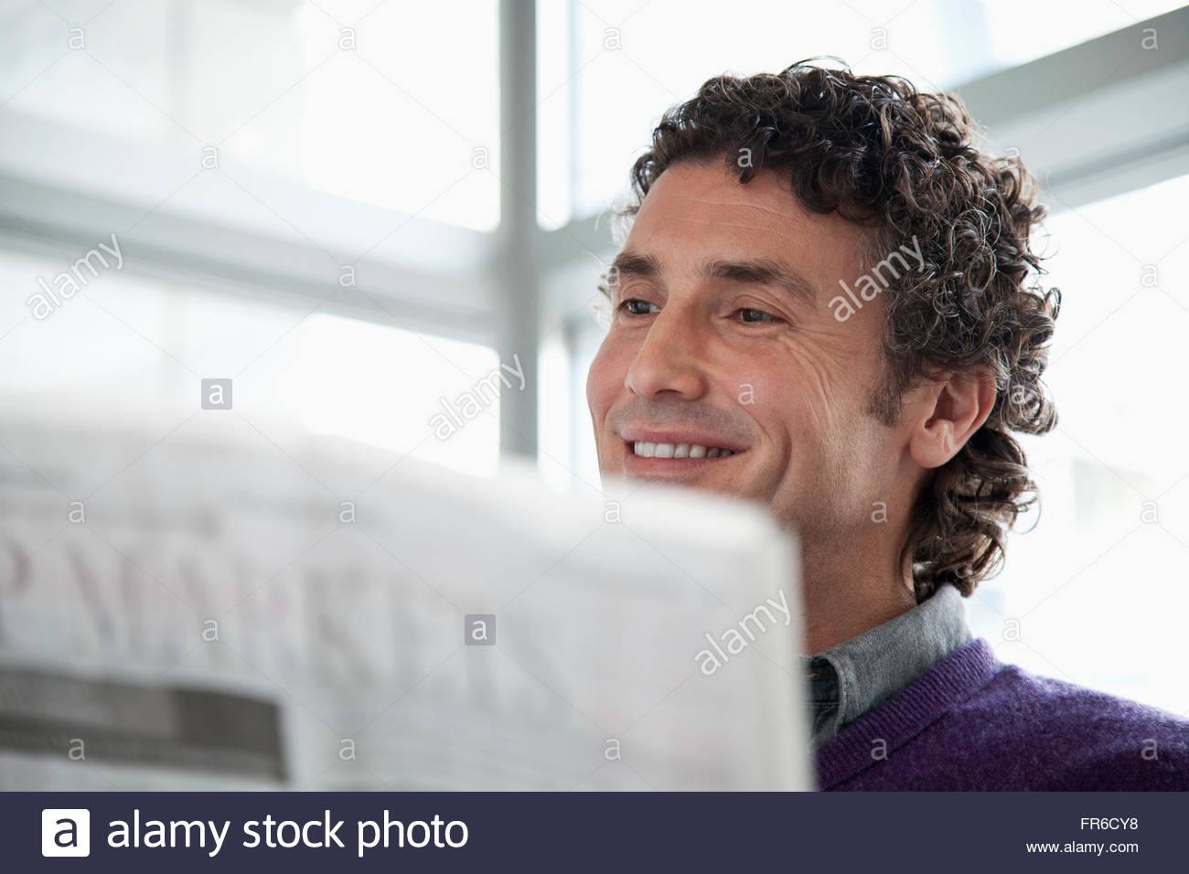 Empresario atractivo en el trabajo Imagen De Stock