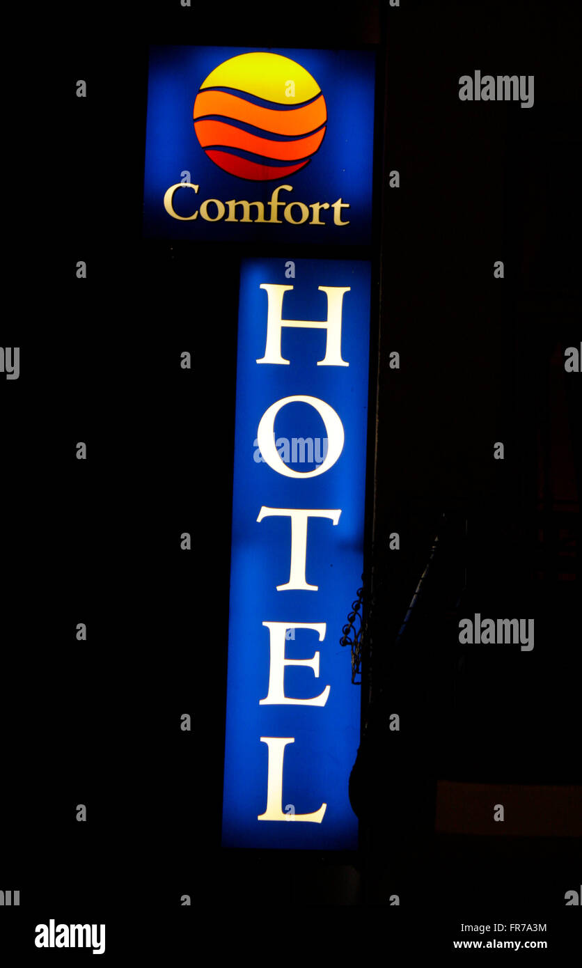 Markenname: 'Comfort Hotel', de Berlín. Foto de stock