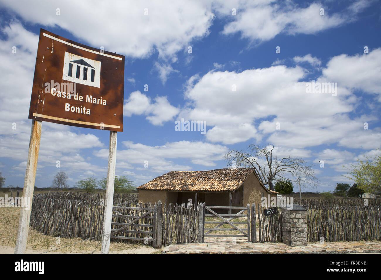 Casa Maria Bonita museo en homenaje a la Reina cangaceira situado en la localidad de bandidos de trillado Imagen De Stock