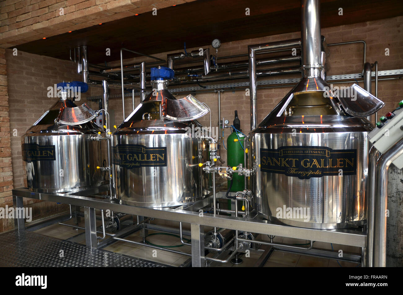 Fabricación de cerveza en la región serrana de Fluminense Imagen De Stock