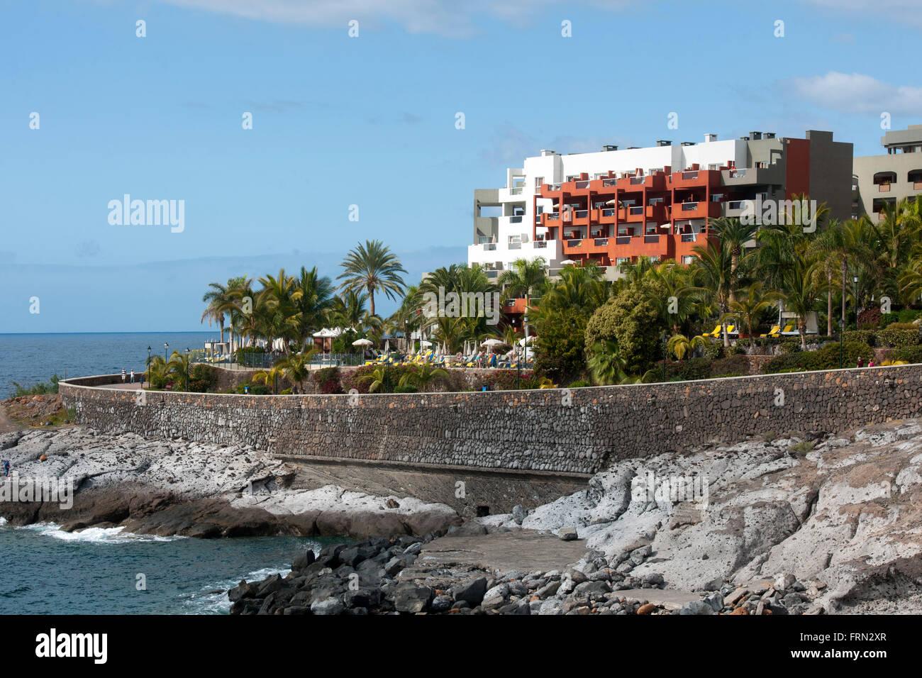 Spanien, Tenerife, Costa Adeje, Playa Paraíso, Hotel Roca Nivaria Imagen De Stock