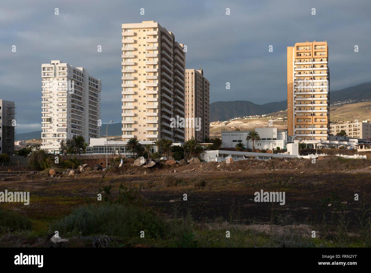 Spanien, Tenerife, Costa Adeje, Playa Paraiso Imagen De Stock