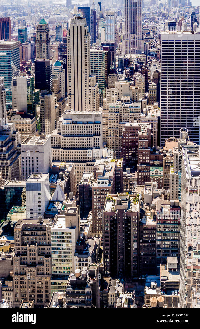 Los edificios de la ciudad de Nueva York, EE.UU.. Imagen De Stock