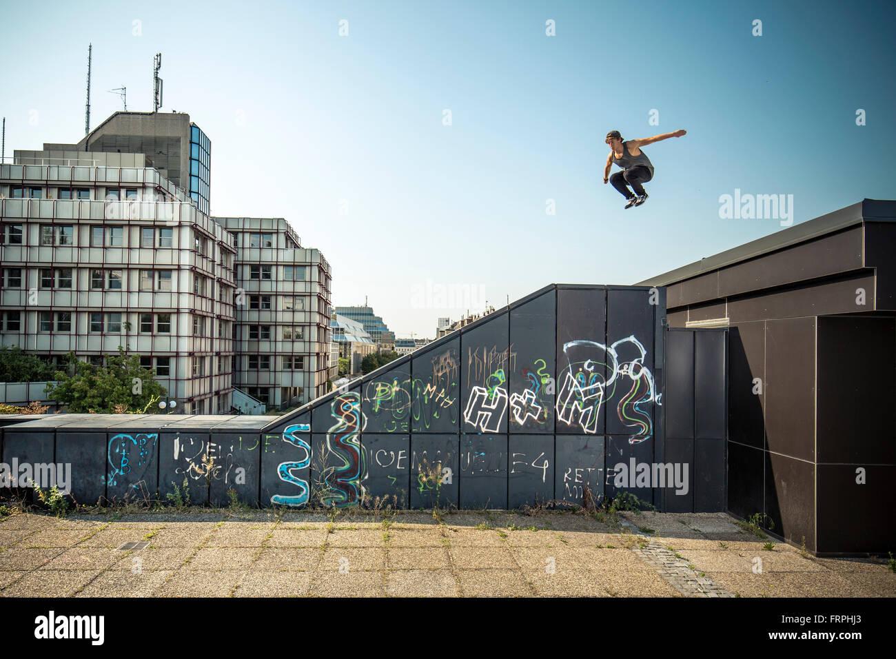 Freerunning urbano Imagen De Stock