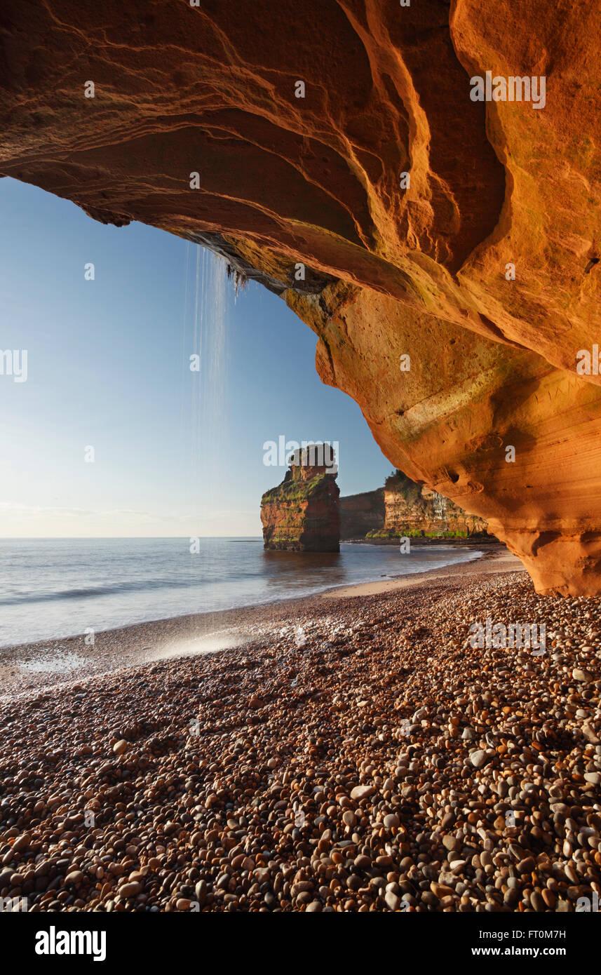 Ladram Bay. Costa Jurásica, Patrimonio de la Humanidad. Devon. En el Reino Unido. Imagen De Stock
