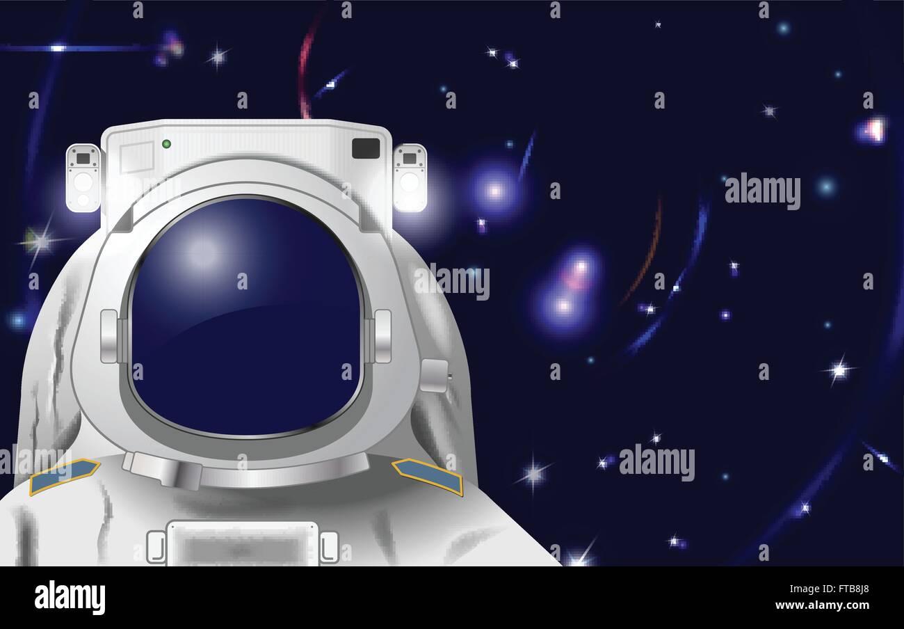 El astronauta ilustración vectorial para poner su propia cara o reflexión en EPS10 Vector, malla de degradado y Ilustración del Vector