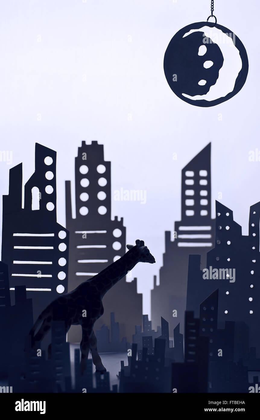 La gracia y la luna Imagen De Stock