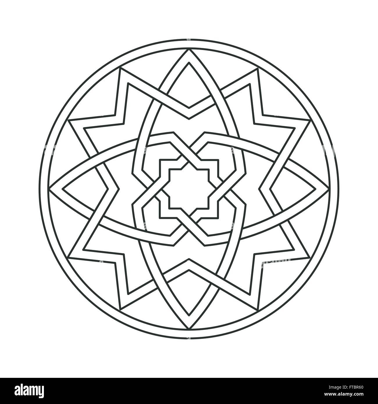 Ornamento abstracto gótico motif entrelazado Imagen De Stock