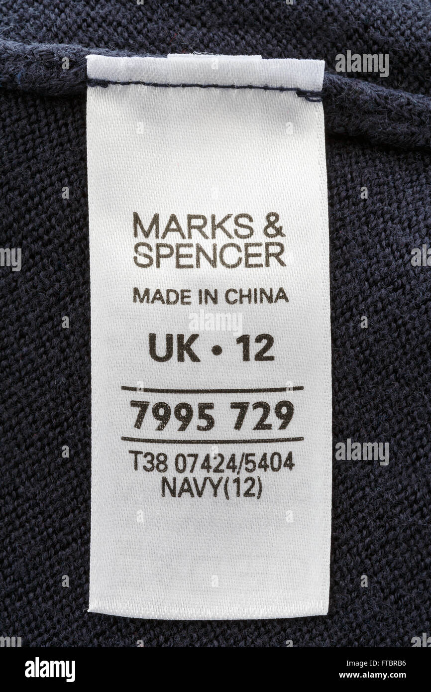 Clothing Label Made China Imágenes De Stock   Clothing Label Made ... f361b9fad75