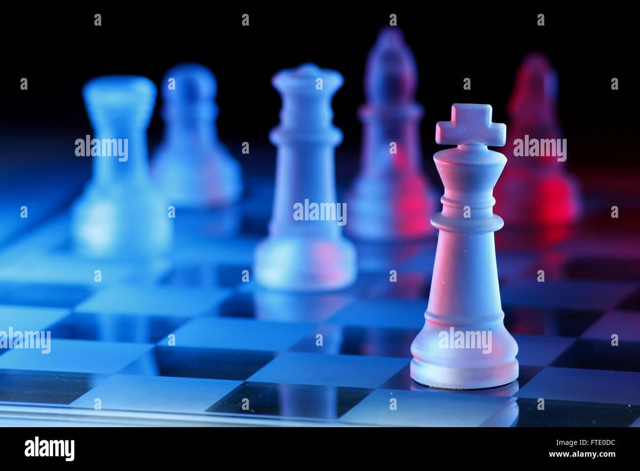 Juego de tablero de ajedrez Foto de stock
