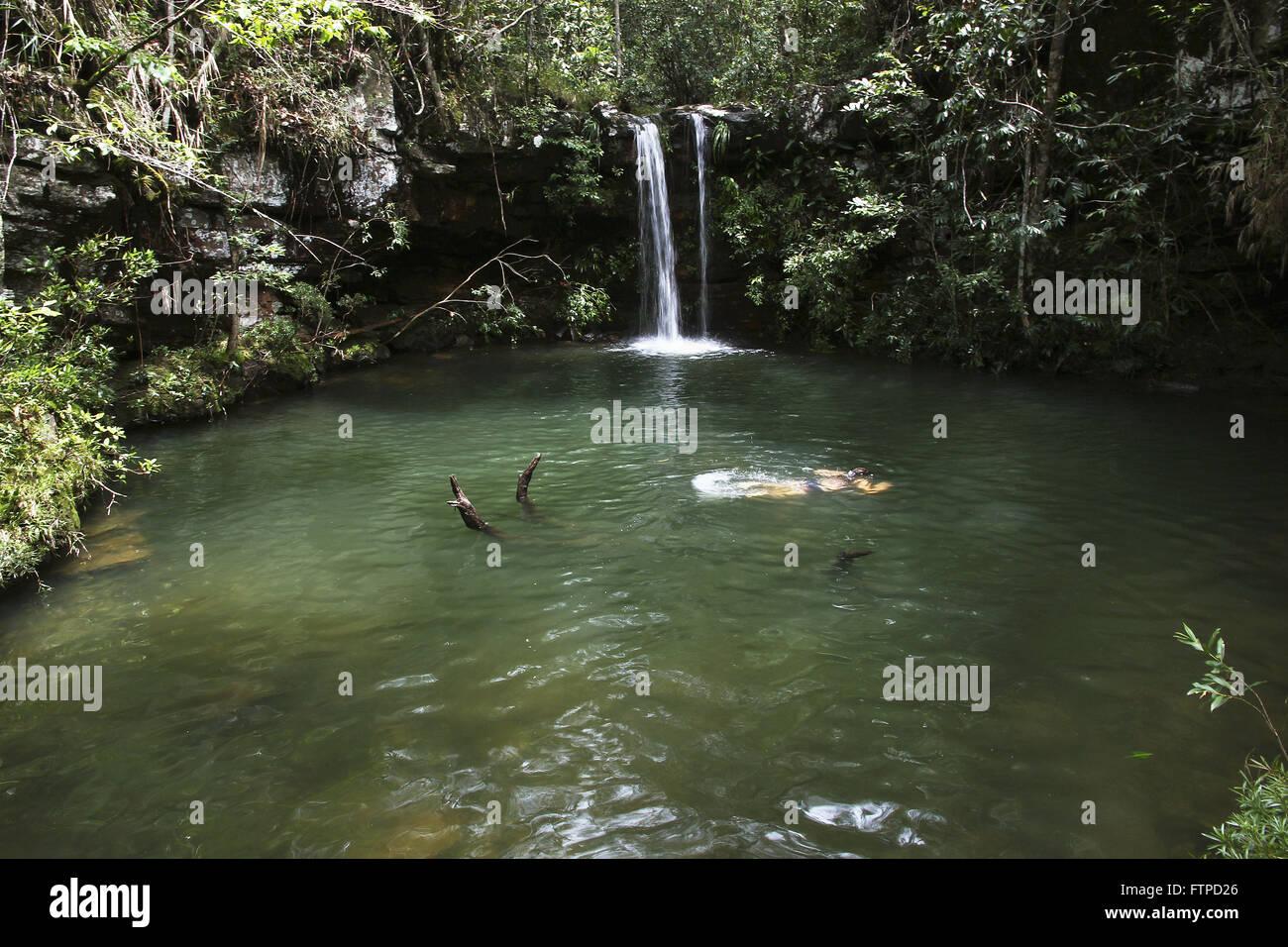 Poco da Cachoeira Louquinhas del arroyo pasatiempos Imagen De Stock