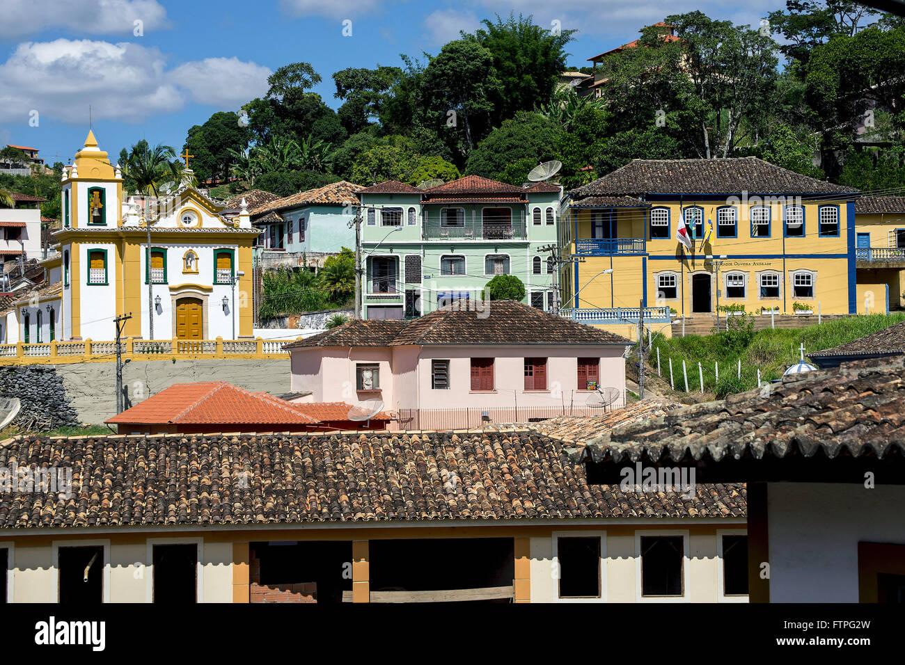 Vista de la ciudad con la capilla de Nuestra Señora del Rosario de los negros Imagen De Stock