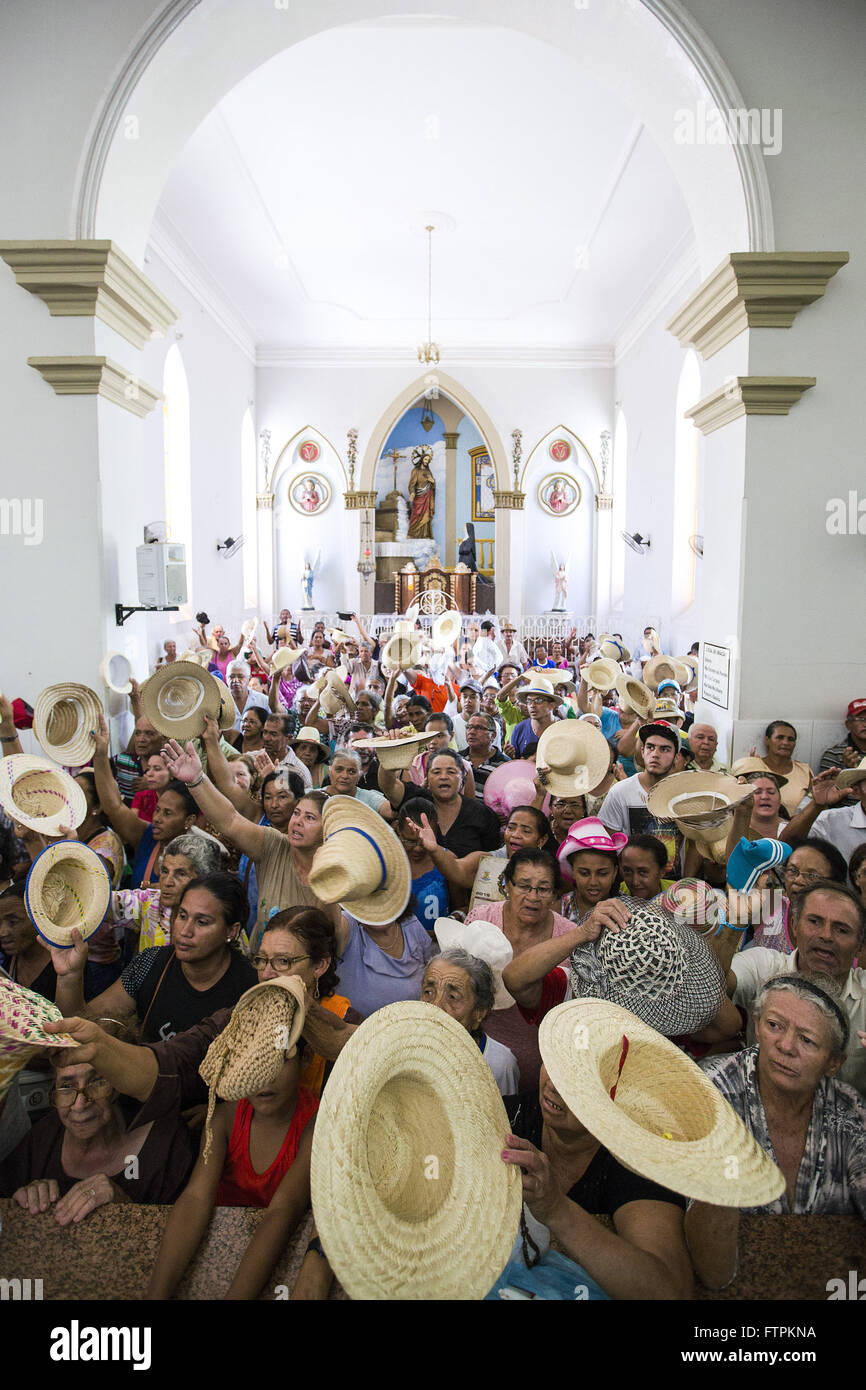Misa de despedida para los peregrinos en la Basílica Santuario de Nuestra Señora de los dolores Imagen De Stock