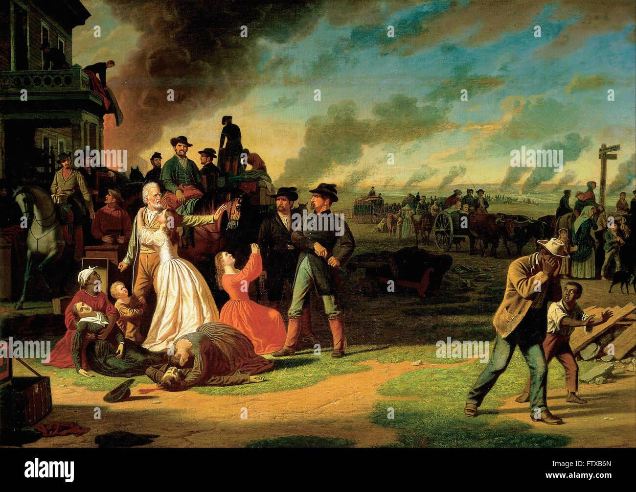 George Caleb Bingham - Orden Nº 11 - Museo de Arte de Cincinnati Foto de stock