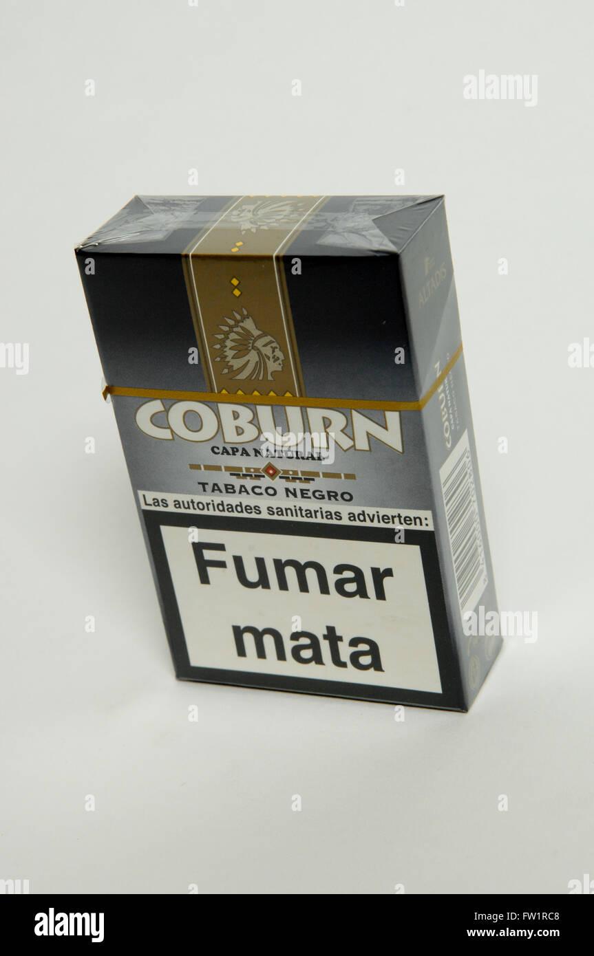 Coburn Capa cigarrillos naturales Foto de stock