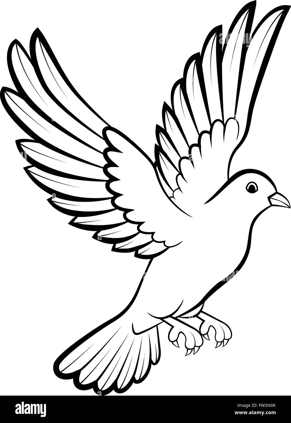 Aves Paloma De La Paz El Concepto De Logotipo Y Diseño De Boda