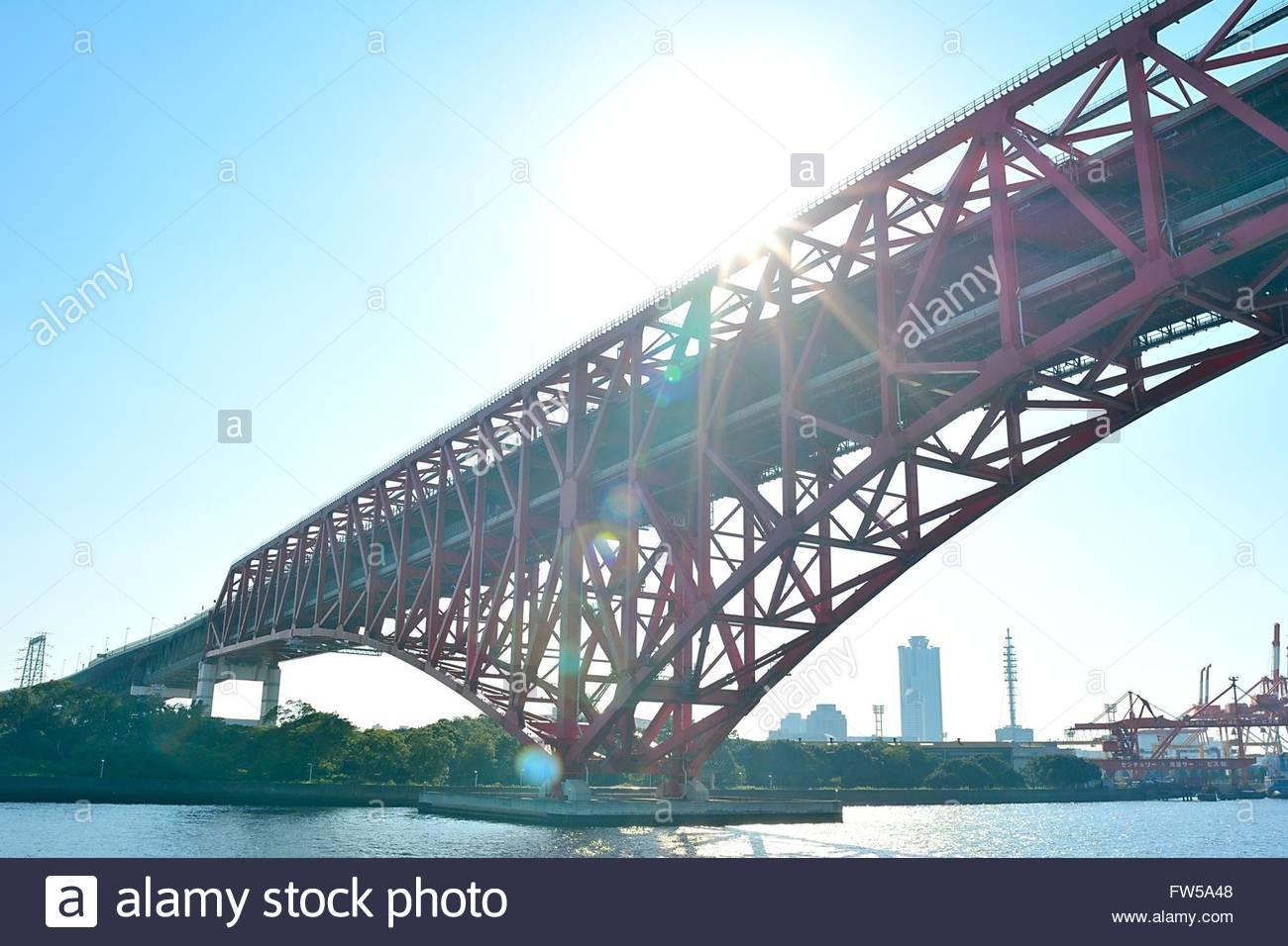 Vista del área de la bahía de Osaka Imagen De Stock