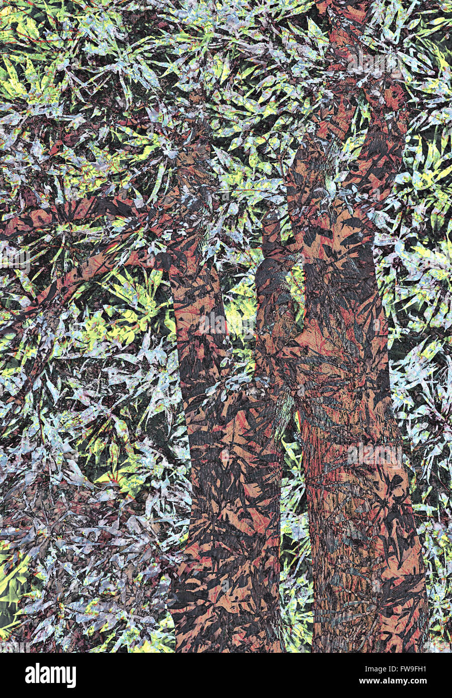 Moderno diseño gráfico abstracto concepto creativo de arte digital Imagen De Stock