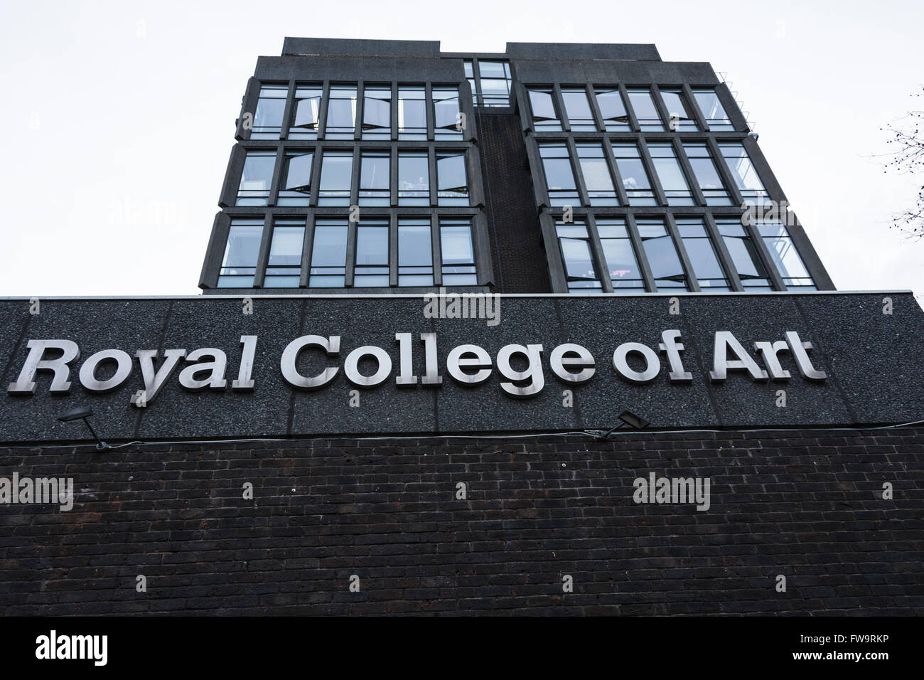 Exterior del Royal College of Art, puerta de Kensington, Londres, Reino Unido. Foto de stock