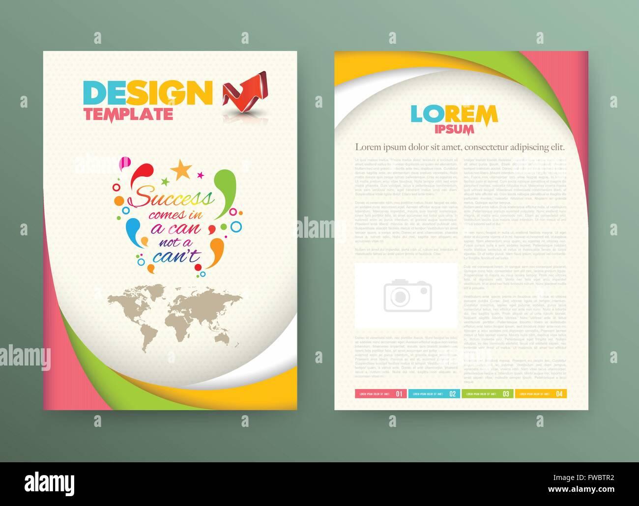 Plantilla de diseño para folletos y octavillas con el éxito viene en ...