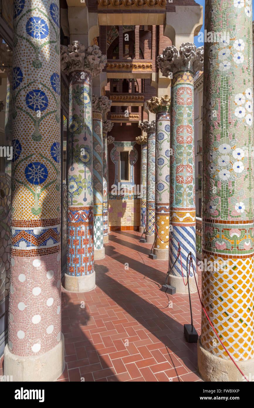 Balcón del Palau de la Música Catalana Imagen De Stock