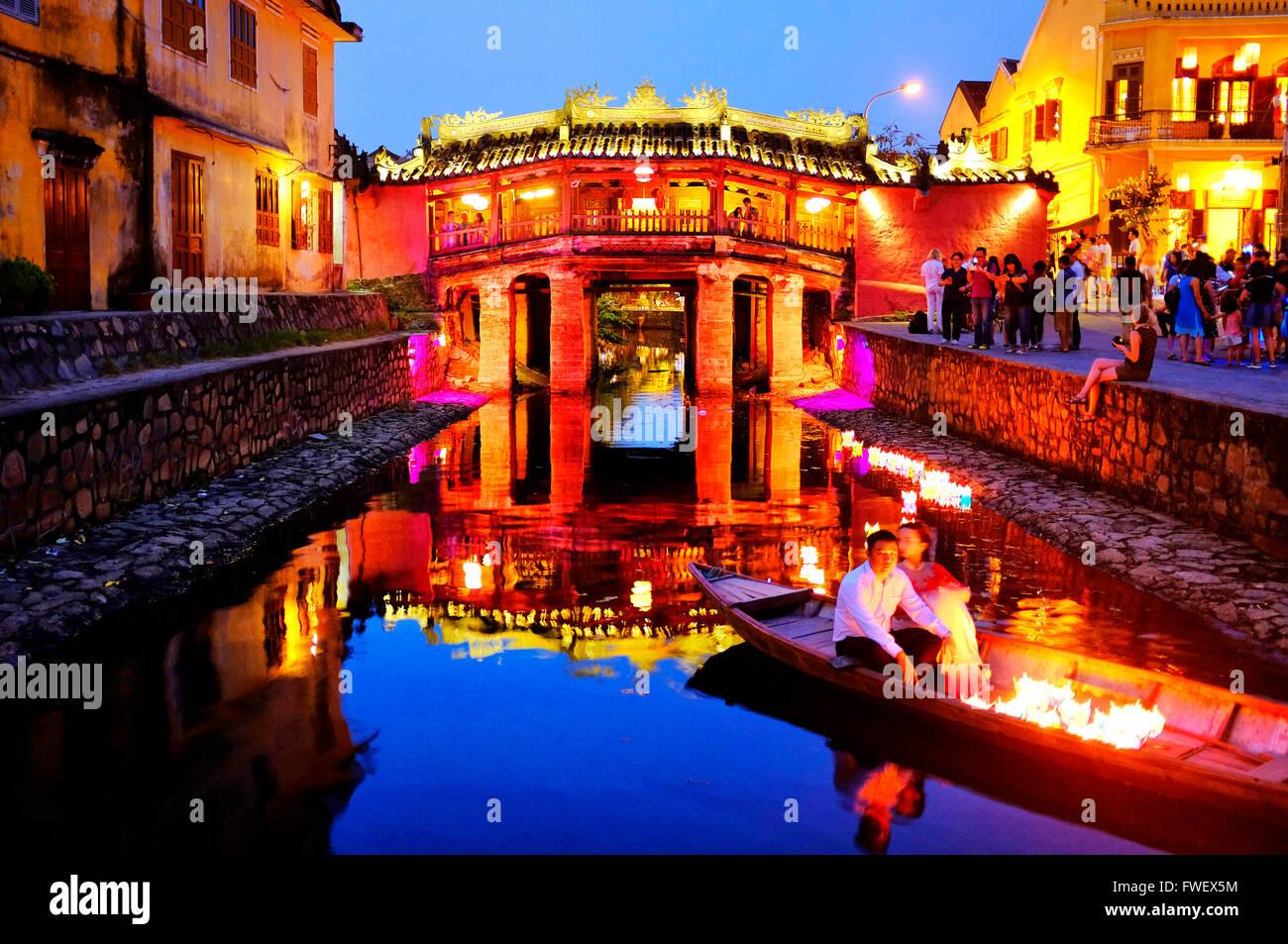 Puente cubierto japonés, Hoi An, Vietnam Imagen De Stock