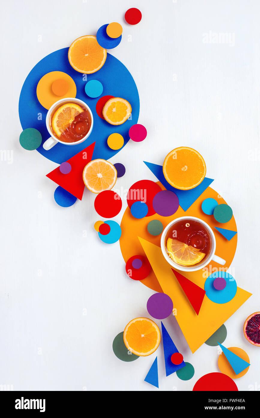 Suprematic tea party Imagen De Stock