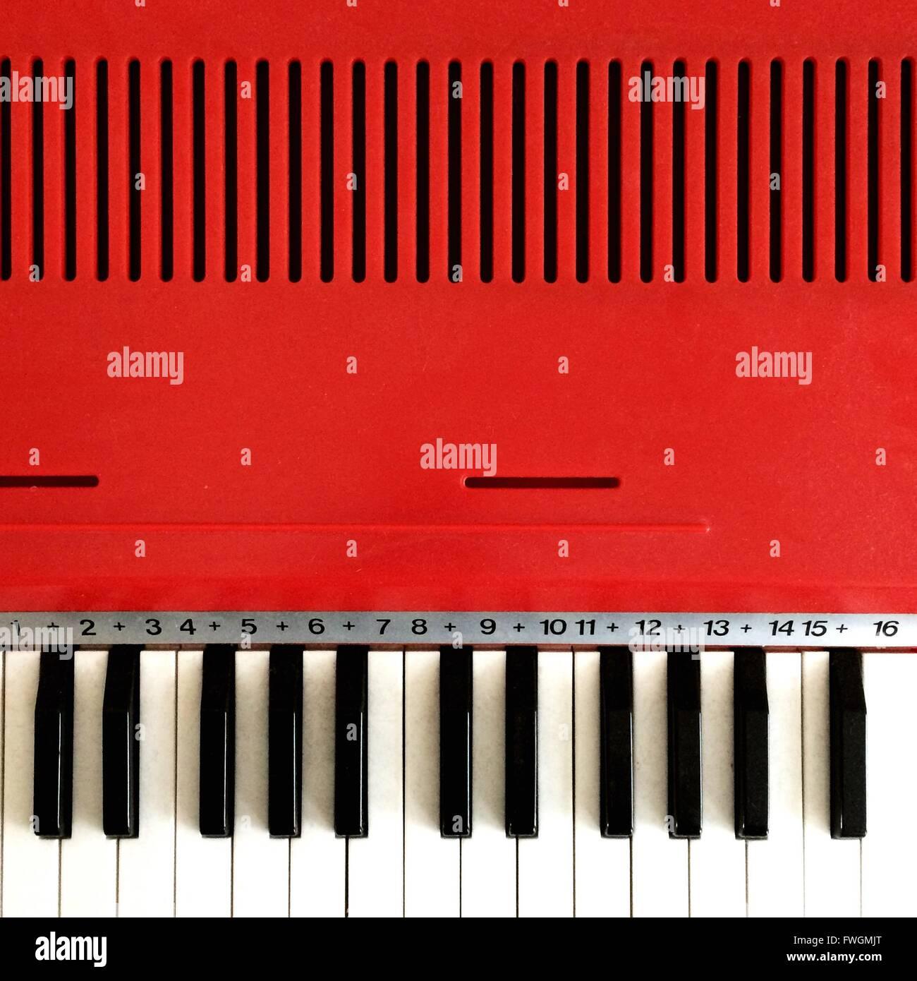 Primer plano de Piano Imagen De Stock