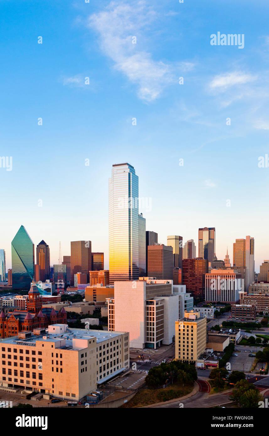 Skyline, Dallas, Texas, Estados Unidos de América, América del Norte Foto de stock