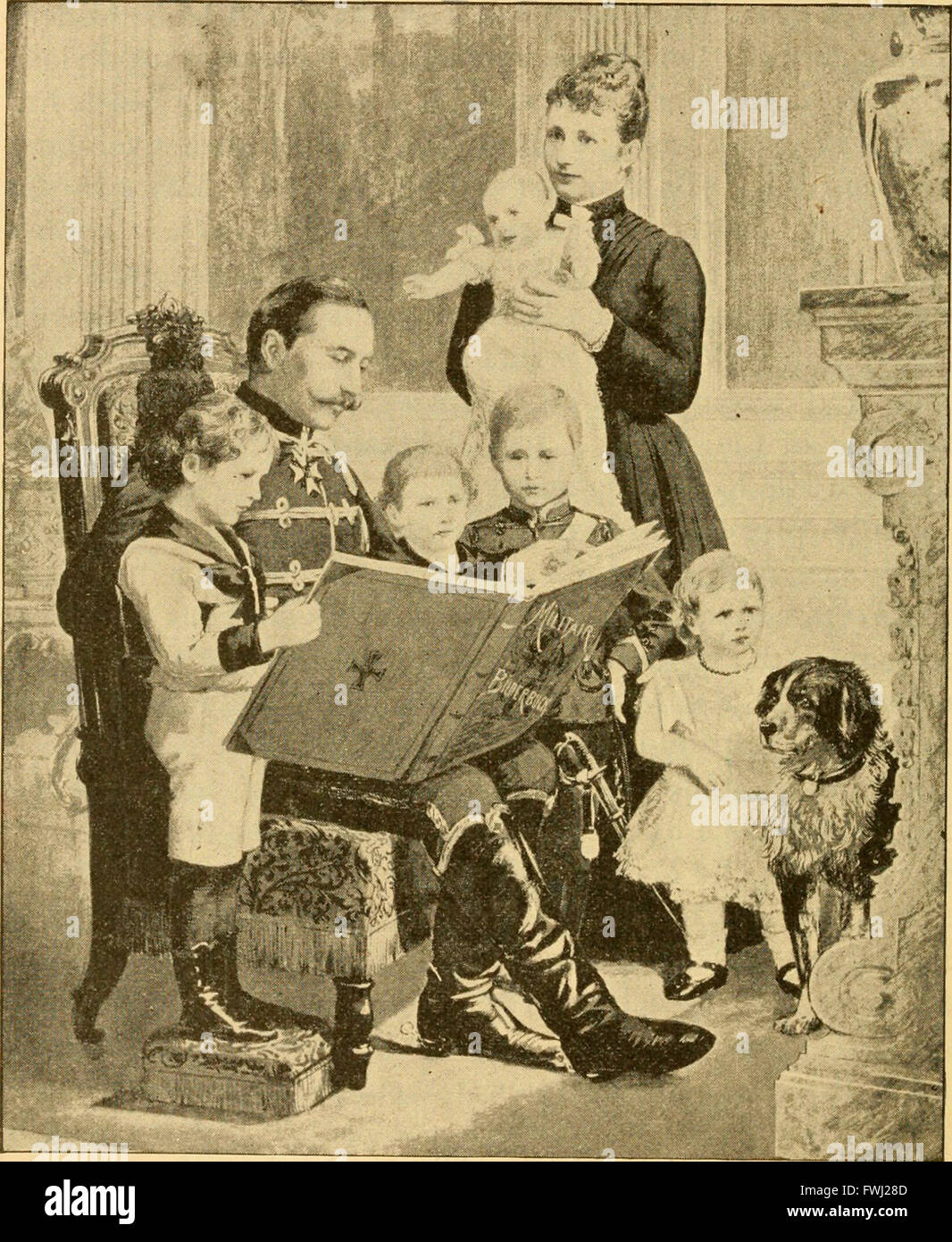 Dentro de los palacios reales, un brillante y encantadoramente escrita vista interior de emperadores, reyes, reinas, príncipes y princesas (1892) Foto de stock