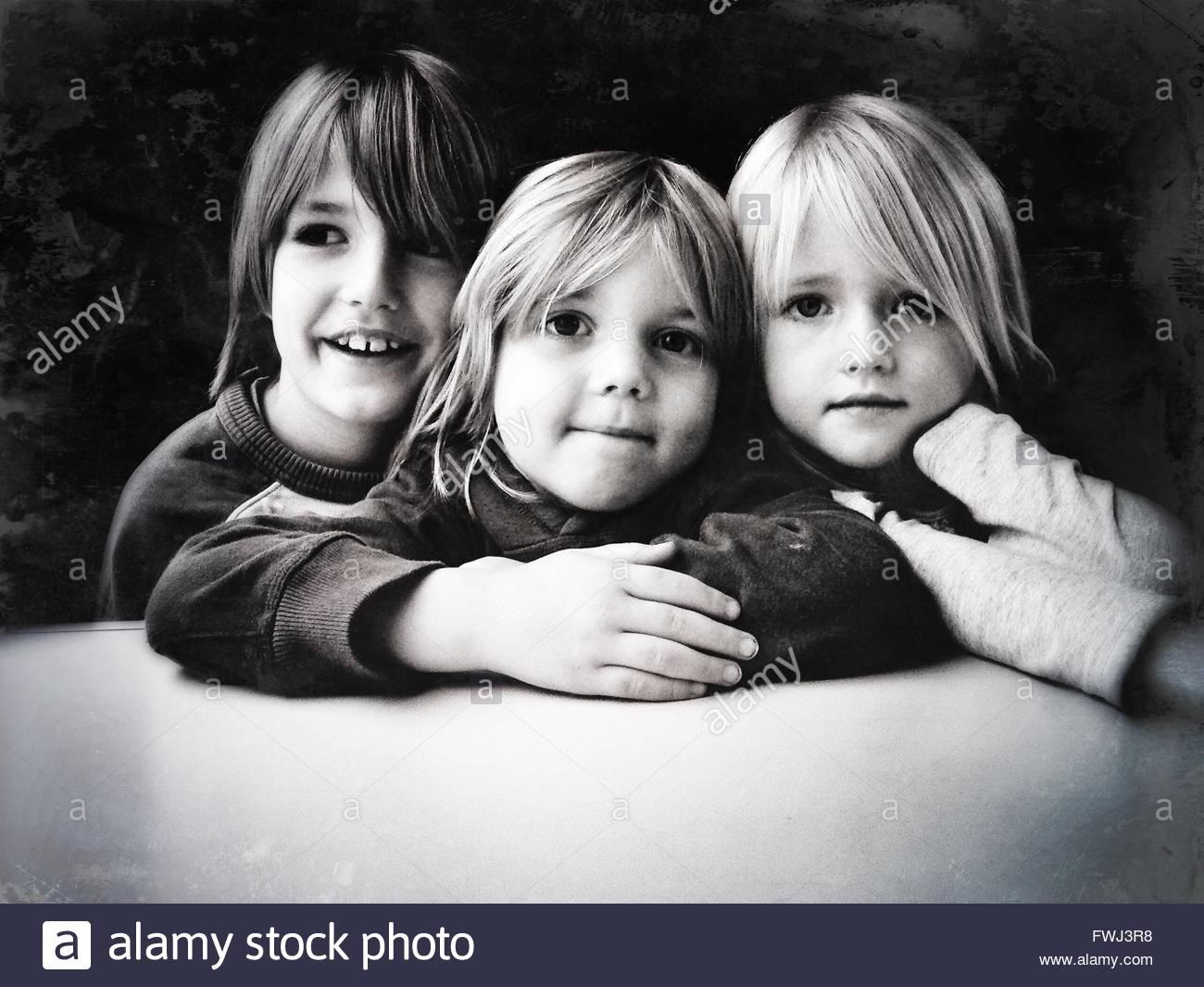 Retrato de los hermanos Imagen De Stock