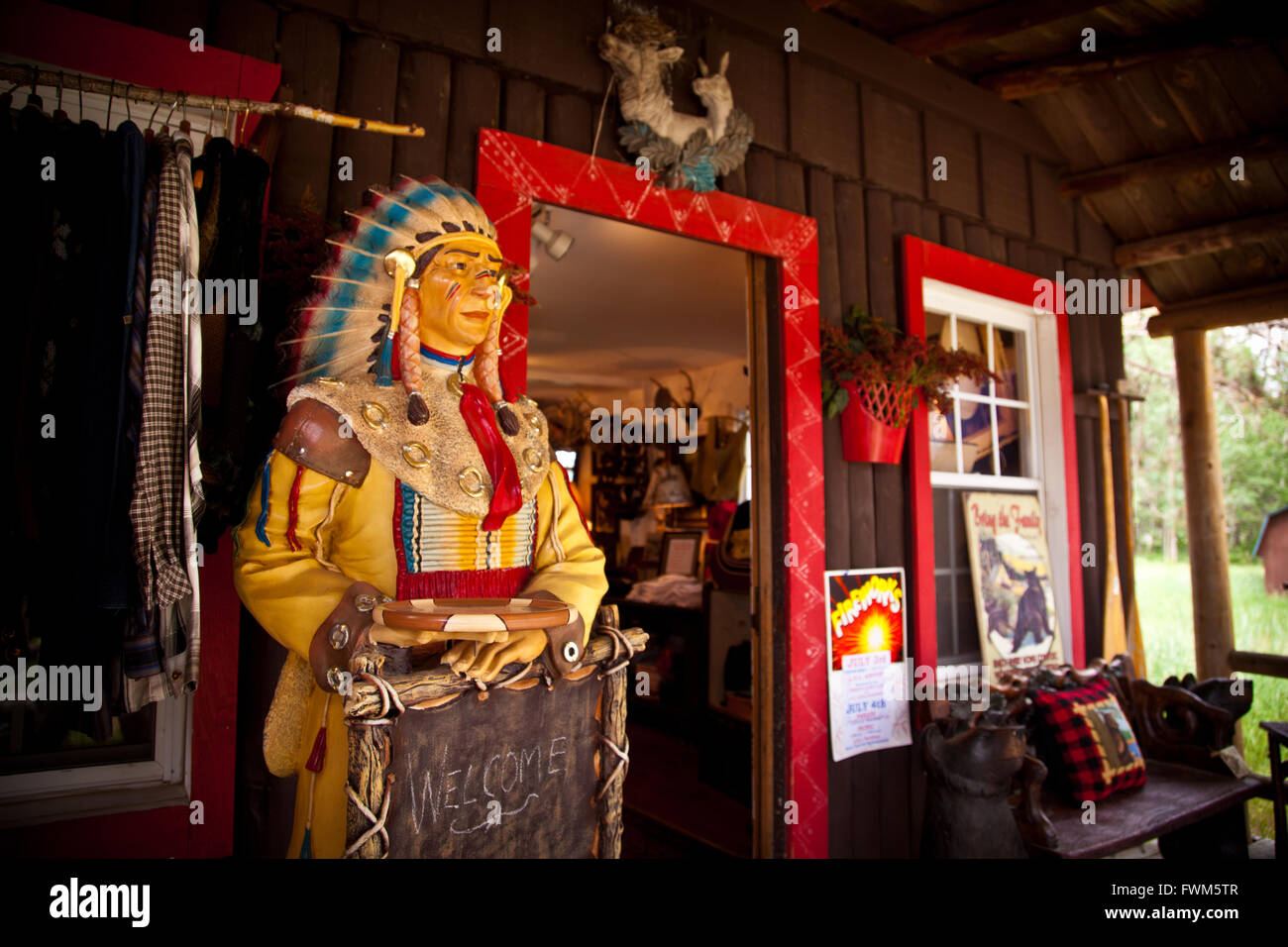 Country Store en el Northwoods en Land O'Lakes, Wisconsin. Foto de stock