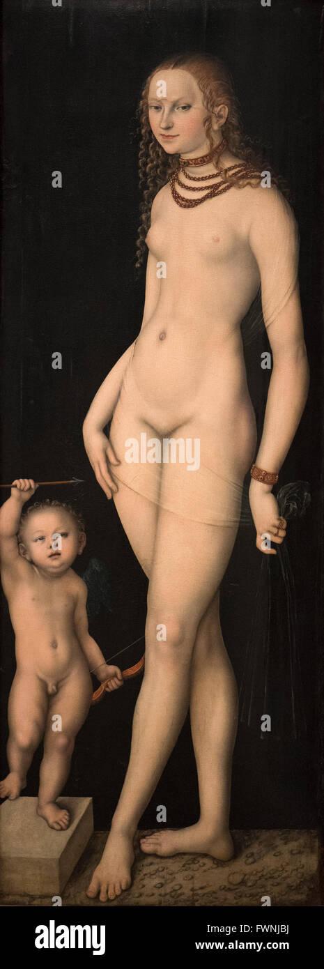 Lucas Cranach (1472-1553), Venus y Amor, ca.1530. Imagen De Stock