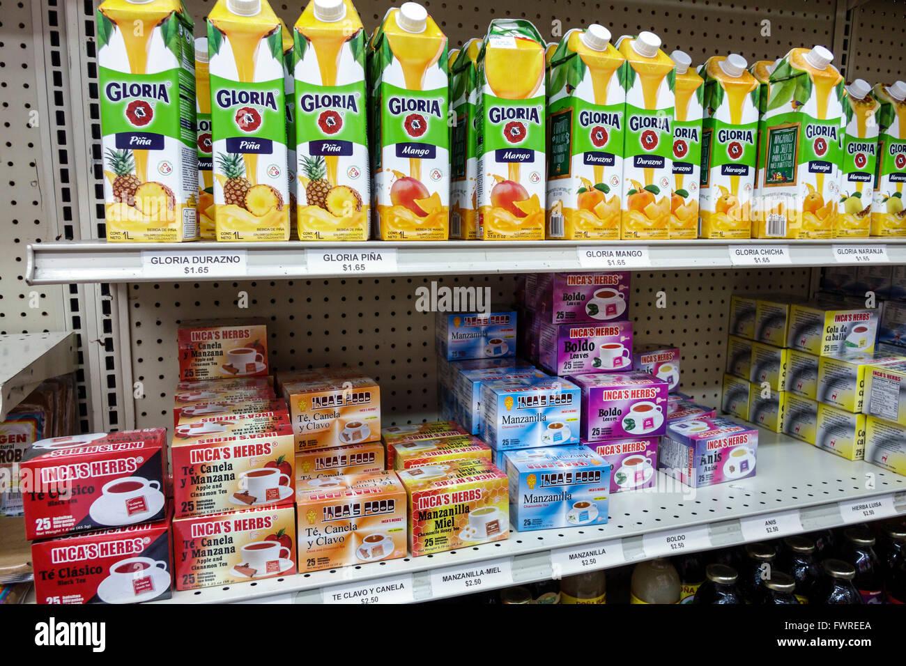 Miami FL Florida tienda hispana Gloria cartones de jugo de té de hierbas  alimentos del Inca 85196049470a