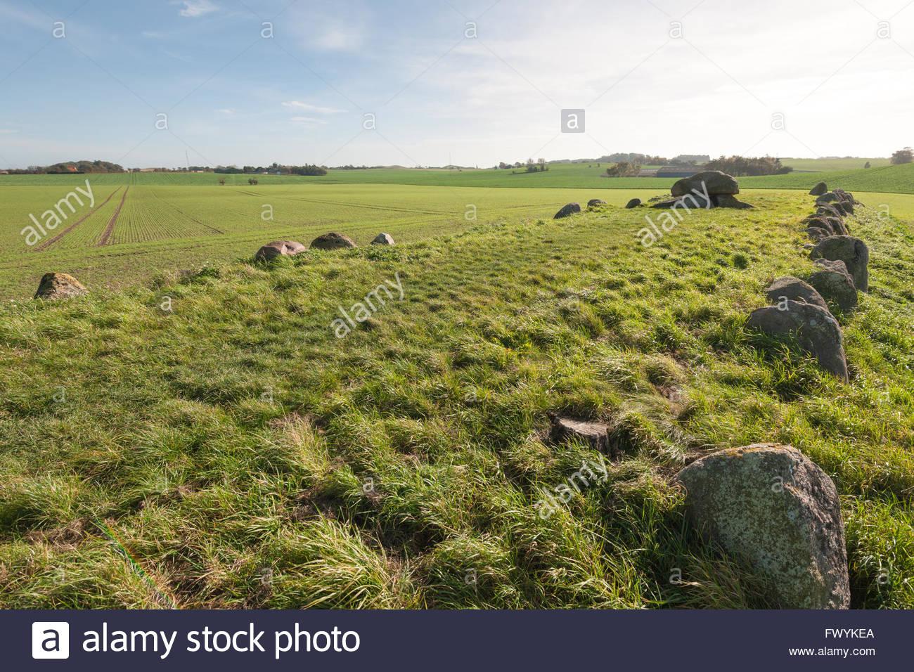 Rey humilla grave, humilde, Langeland, Dinamarca / humilde Imagen De Stock