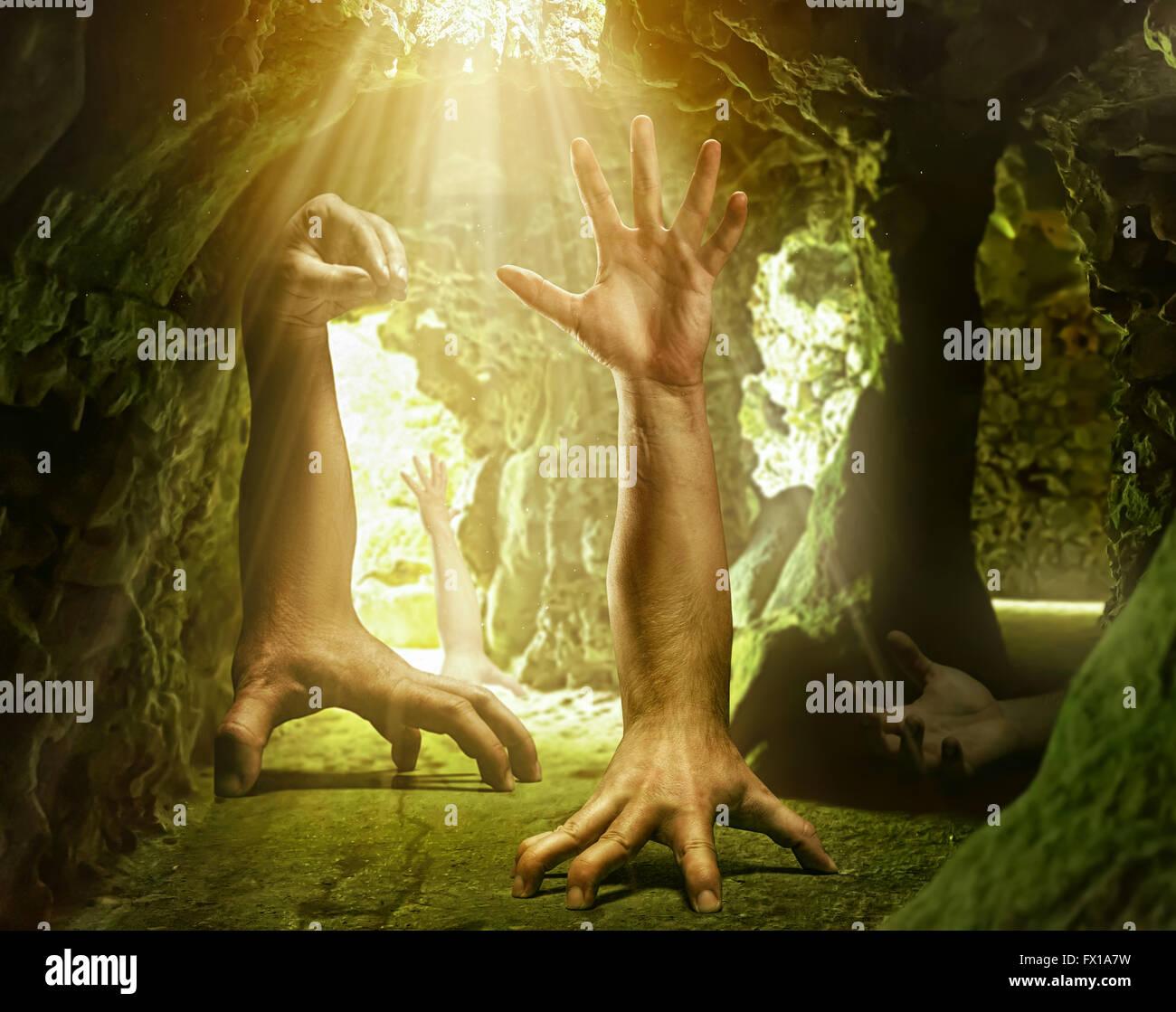 Las manos del hombre extraño Imagen De Stock