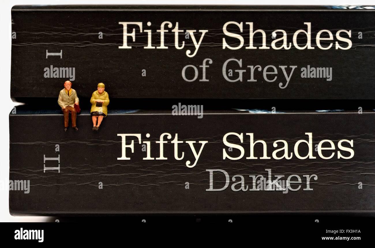 Los más vendidos 59 tonos de gris y 59 tonos más oscuros Foto de stock