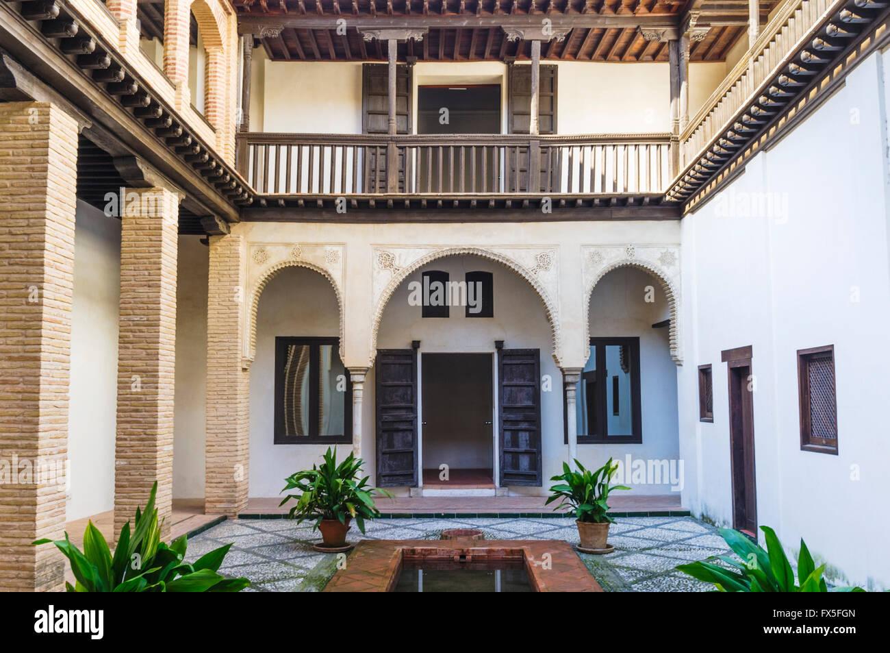 Horno de Oro mansión morisca, distrito de Albayzin, Granada, Andalucía, España Imagen De Stock