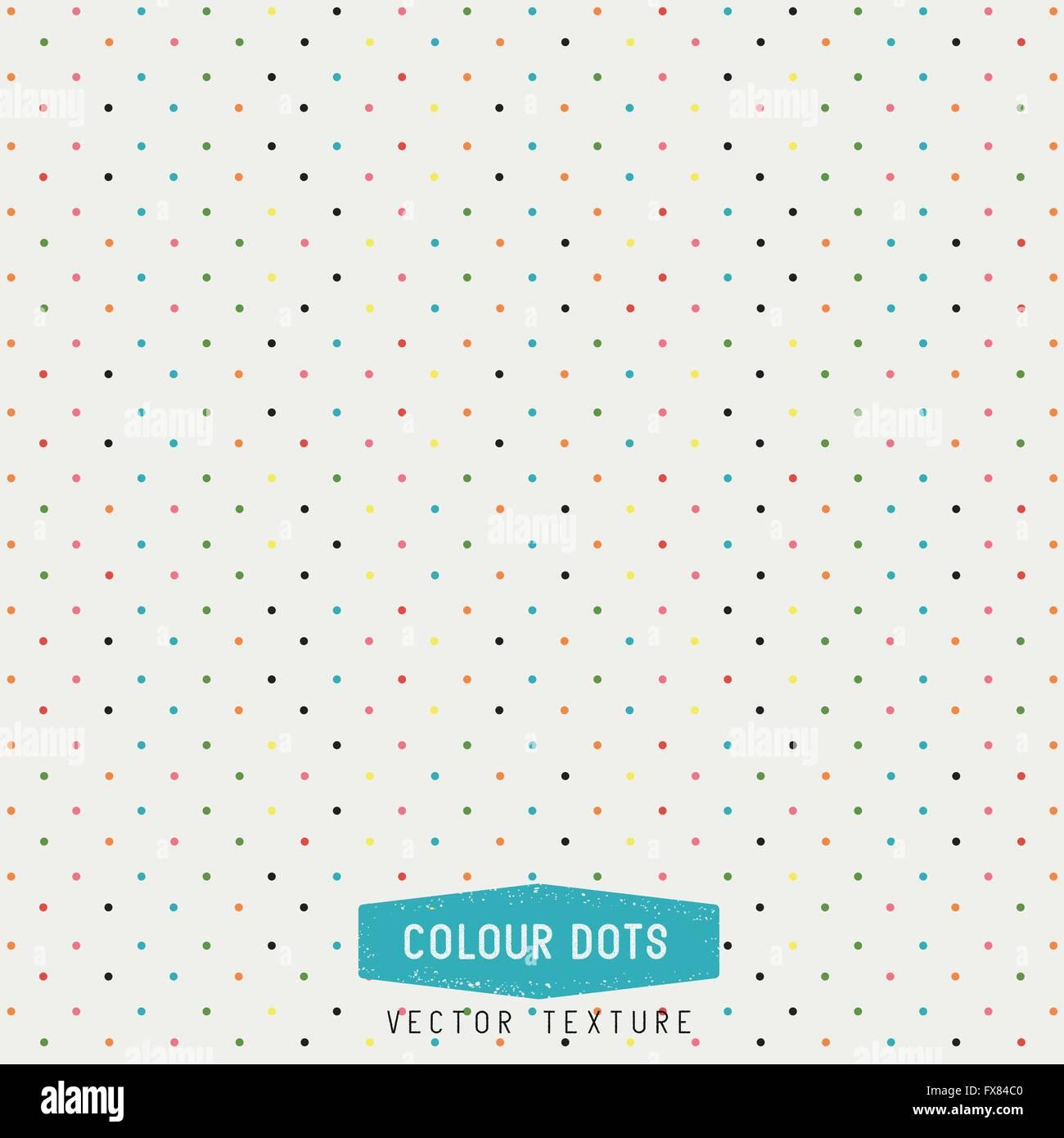 Puntos coloridos textura Vector. Los puntos de fondo. Ilustración vectorial. Hecho a mano. Imagen De Stock